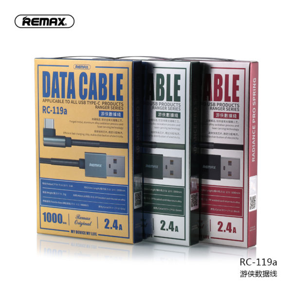 REMAX 2.4A Fast charging Ranger Series data cable for Type-C RC-119a Length 1m