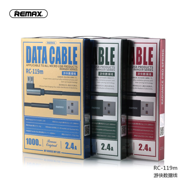 Remax Ranger Series 2.4A Micro USB Data Cable RC-119m